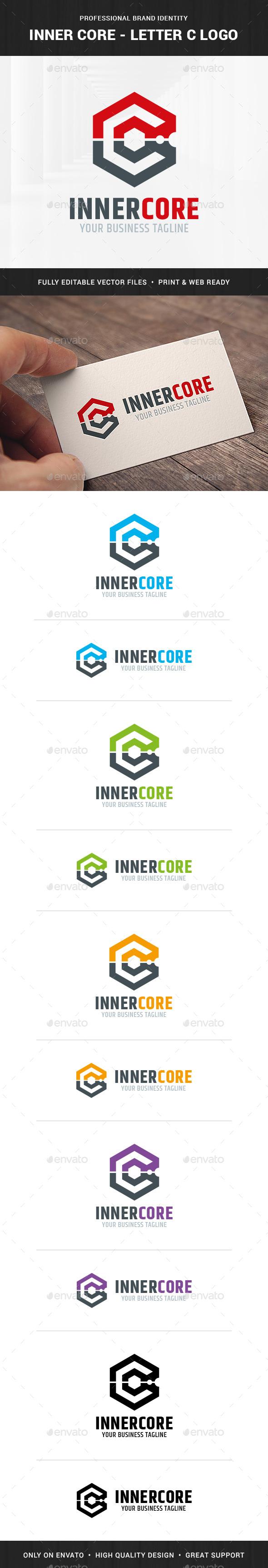 Inner Core - Letter C Logo - Letters Logo Templates