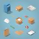 Isometric Postal Delivery Set