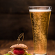 Chicken burger with glass of beer - PhotoDune Item for Sale