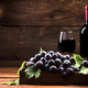 Red wine and fresh vine grapes - PhotoDune Item for Sale