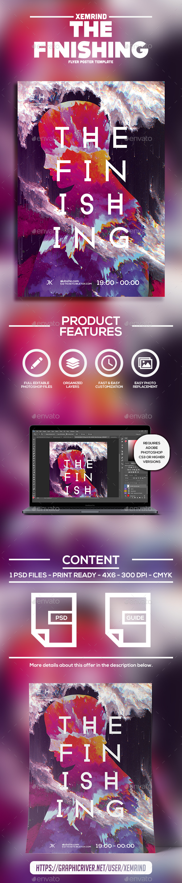 The Finishing Flyer Template - Clubs & Parties Events