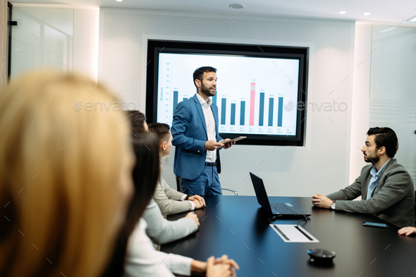 Picture of business meeting in conference room - Stock Photo - Images