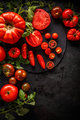 Flat lay of fresh ripe tomatoes - PhotoDune Item for Sale