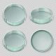 Empty Glass Petri Dish
