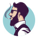 Hipster Smoking Logo Template - GraphicRiver Item for Sale