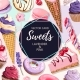 Vector Card with Pink and Lilac Sweets - GraphicRiver Item for Sale