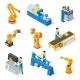 Industrial Robots Isometric Machines for Assembly - GraphicRiver Item for Sale