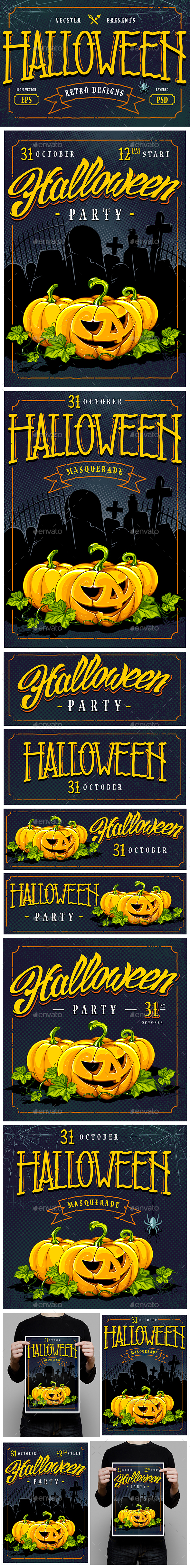 Halloween Retro Designs - Halloween Seasons/Holidays