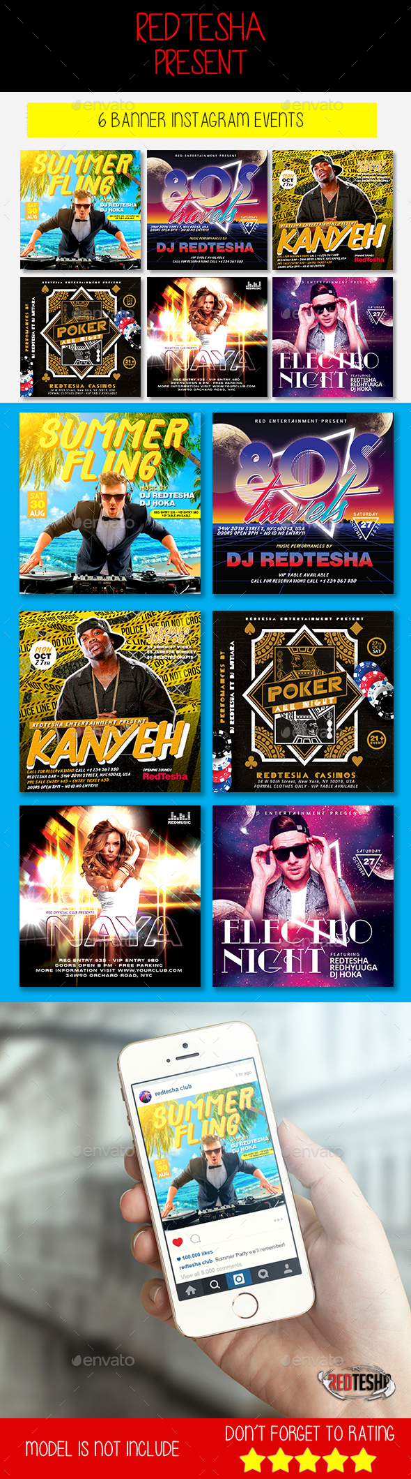 Instagram Banner Events - Banners & Ads Web Elements