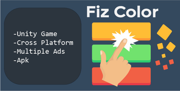 Fiz Color Unity Game (Multiple ads , admob chartboost etc)            Nulled