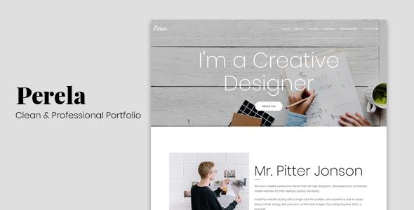 Perela - Clean & Professional Portfolio - Portfolio Creative