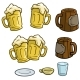 Cartoon Colorful Different Beer Mugs Vector Set - GraphicRiver Item for Sale