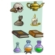 Cartoon Different Magic Stuff Vector Set - GraphicRiver Item for Sale