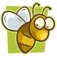 Cartoon Yellow Smiling Bee Vector Icon - GraphicRiver Item for Sale