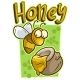 Cartoon Yellow Bee with Honey Jar Vector Icon - GraphicRiver Item for Sale