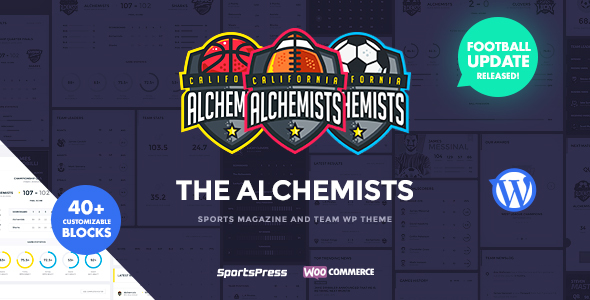 Alchemists - Basketball, Soccer, Football Sports Club and News WordPress Theme