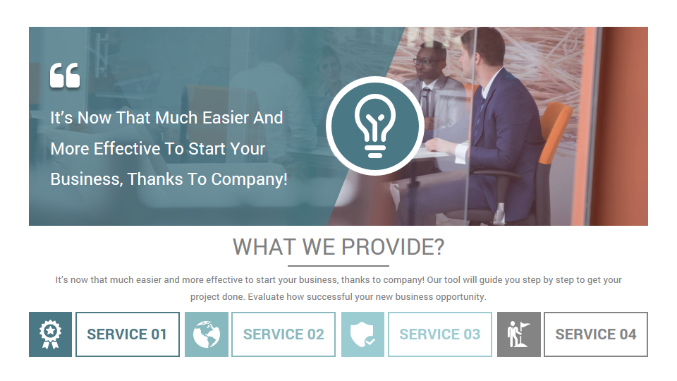 Stunning Company Profile PowerPoint Presentation Template by CiloArt