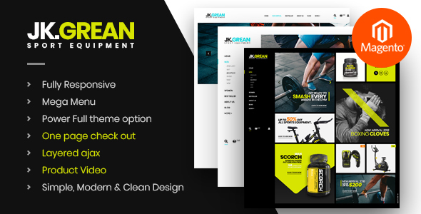 JkGrean - Fitness, Gym and Sport Magento 2 theme - Health & Beauty Magento