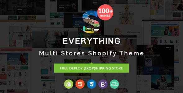 Everything - Multipurpose Premium Responsive Shopify Themes - Fashion, Electronics, Cosmetics, Gifts