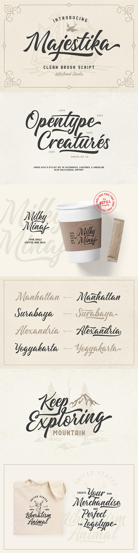 Majestika - Clean Brush Script - Calligraphy Script