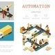 Isometric Industrial Factory Infographic Template