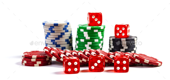 Chips And Dice - Stock Photo - Images