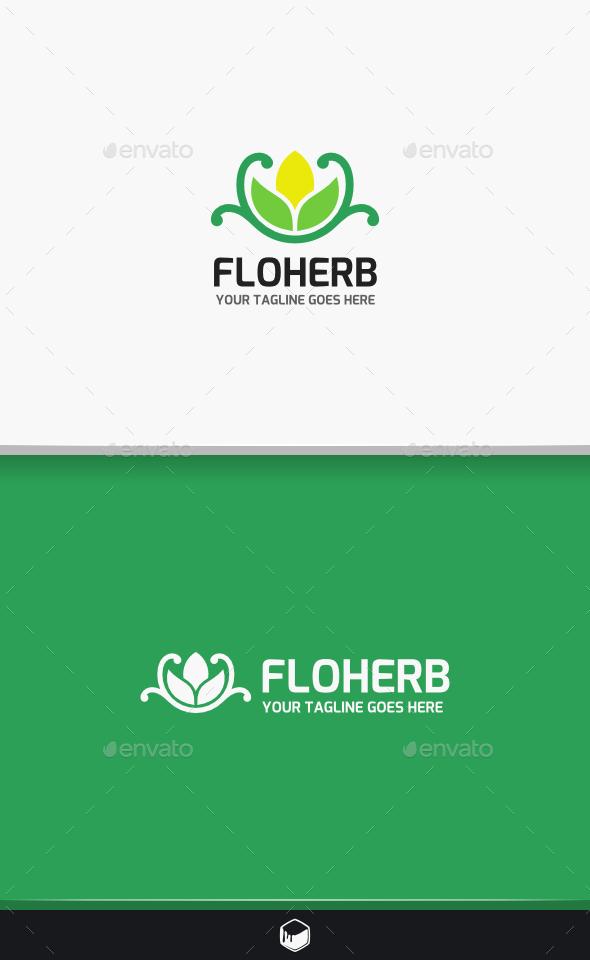 Flower Herb Logo - Nature Logo Templates