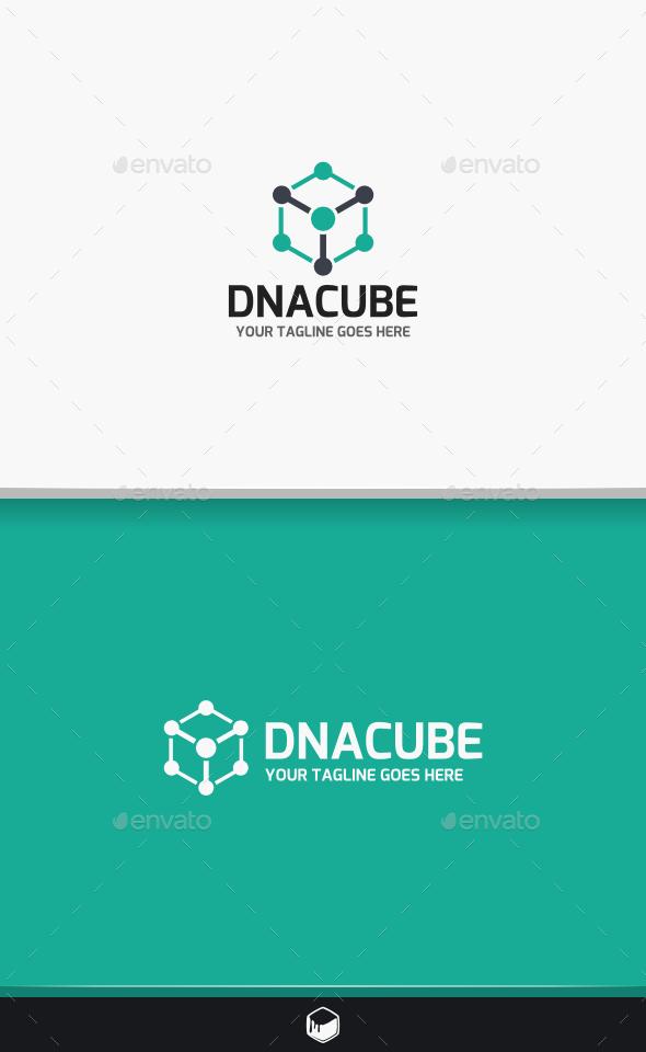 DNA Cube Logo - Objects Logo Templates