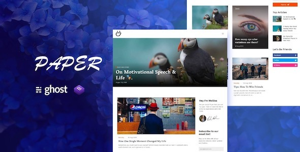 Paper - A Multipurpose Ghost Blog Theme