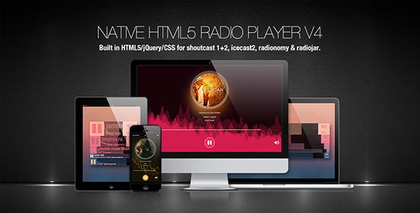 Native HTML5 Radio Player Plugin - CodeCanyon Item for Sale