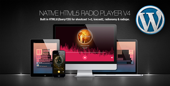Native HTML5 Radio Player WP Plugin - CodeCanyon Item for Sale