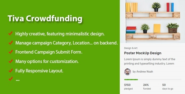 Tiva Crowdfunding - Wordpress Crowdfunding System            Nulled