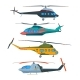 Helicopter Aviation. Helicopters Cartoon.