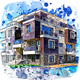 Architecture Sketch Art Paint Photoshop Action - GraphicRiver Item for Sale