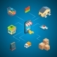 Vector Isometric Shipping and Delivery Icons