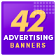 Advertise Here Web Banner Set for Web Site Owners - GraphicRiver Item for Sale