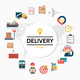 Flat Delivery Round Concept - GraphicRiver Item for Sale