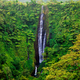 Vibrant tall Papapapaitai falls in the forest of Upolu island, S - PhotoDune Item for Sale