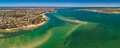 Aerial drone view of south part of Bribie Island, Queensland, Au - PhotoDune Item for Sale