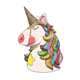 Unicorn Character Head Portrait with Rainbow Hair - GraphicRiver Item for Sale
