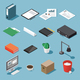 Isometric Office Objects Set