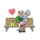 Happy Elderly Couple in Love - GraphicRiver Item for Sale