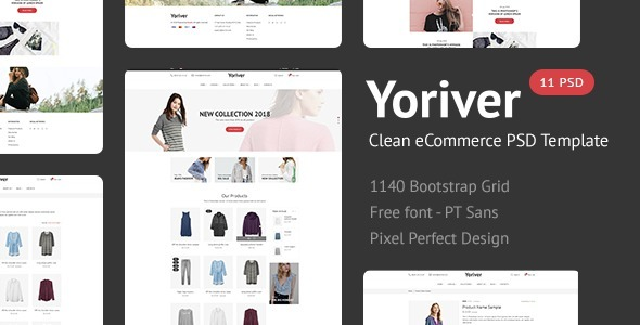 Yoriver - Responsive eCommerce PSD Template