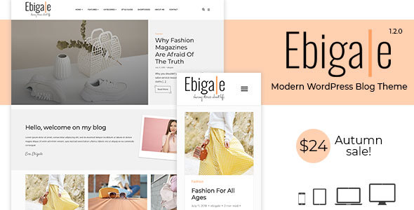 Ebigale - Modern WordPress Blog Theme