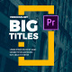 Big Titles I Essential Graphics - VideoHive Item for Sale