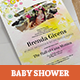 Sunny Baby Shower Invitation - GraphicRiver Item for Sale
