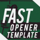 Fast Opener Template - VideoHive Item for Sale