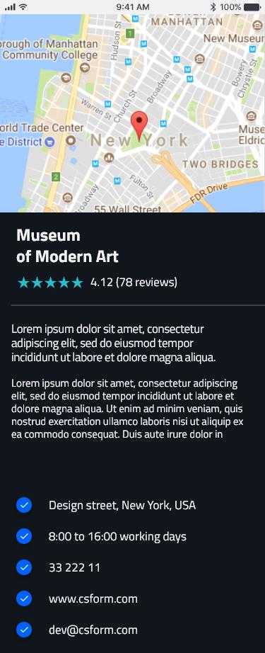 Ionic 3 / Angular 6 UI Theme / Template App - Multipurpose Starter App -  Neon Blue Dark