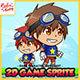 Aviator Taki - 2D Game Character Sprites