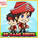 Pirate Jacko - 2D Game Character Sprites